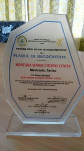 Best Senior Citizens Center of 2017 in the entire Province of Tarlac (2)
