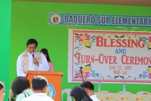 Blessing & Inauguration of Newly Constructed 3-Classroom School Building /Evacuation Center  at Baquero Sur Elementary School.