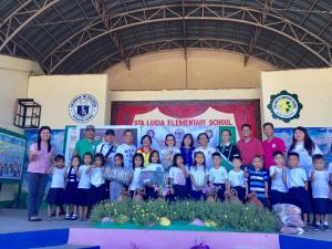Coop Month MCDC Tsinelas giving @ Sta. Lucia Elementary School with our honorable mayora Estelita Aquino