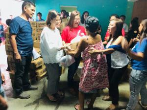 Distribution of Relief Goods @ Sta Lucia East courtesy of DSWD Natl office & PCCI thru Dr Alvin Belarmino - July 29,2018