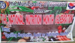 The celebration of National Nutrition Month of 37 Day Care Centers of Moncada