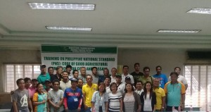 Training on Philippine National Standard (PNS) Code of Good Agricultural Practices for Corn & Cassava.