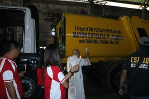 Blessing of Garbage Truck Compactor