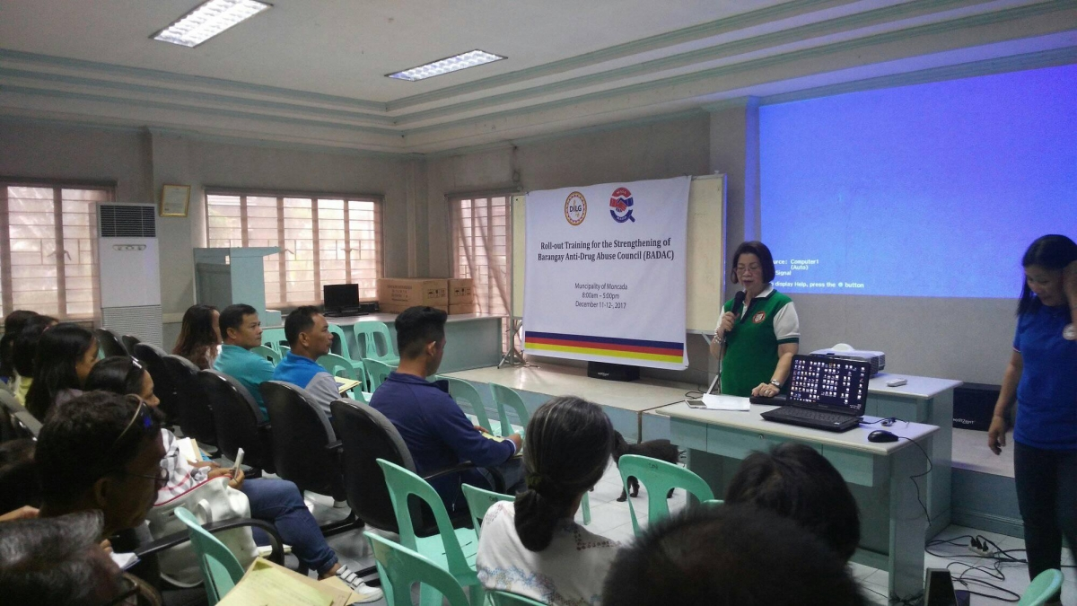 Roll-out Training for the Strengthening of Barangay Anti-Drug Abuse